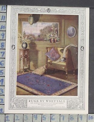 1923 Home Decor Whittall Rugs Living Room Kitchen Worcester Vintage Ad Cp73