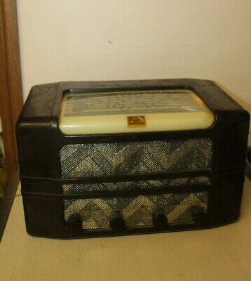 Vintage  His Masters Voice Tube Radio Model C23A  WORKING