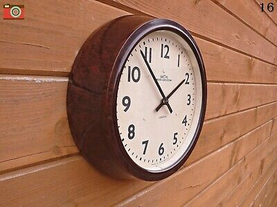 Vintage Smiths Wall Clock, Restored & Updated. Lovely Bakelite, Great Character