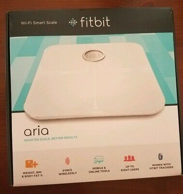 Fitbit Wifi Smart Scale Aria White FB201W Weight Lean Mass Body Fat BMI
