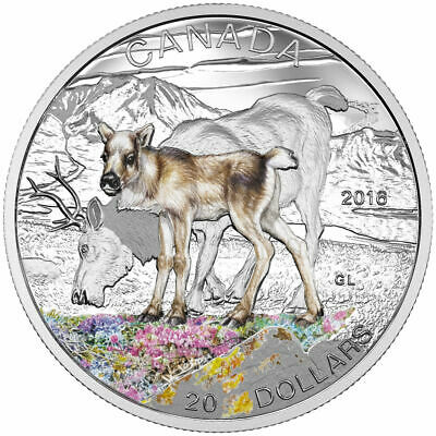 Canada 2016 $20 Fine Silver Coin-Baby Caribou Mintage: 5000