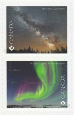 2018 Canada Post - 2 ASTRONOMY Stamps - Both From Booklet MNH; Nice Stamps
