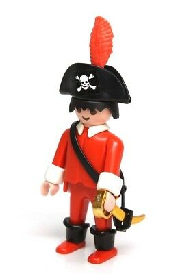 4aaa2e3cfed9d Playmobil Figure Custom Vintage Pirate Ship Captain w  Hat Feather