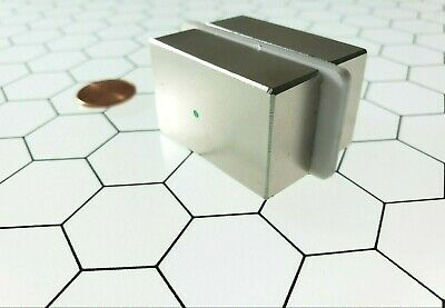 2 Neodymium N52 Block Magnets Rare Earth Super Strong Neo Magnet Gold Test