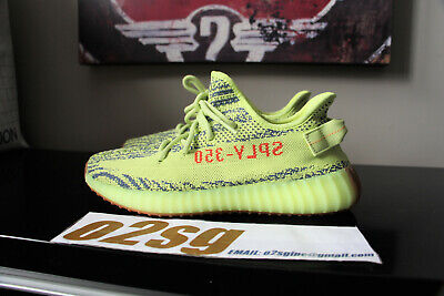 653bc85f03369 New Authentic Adidas YEEZY BOOST 350 V2 SEMI FROZEN YELLOW shoes size 9.5  kanye