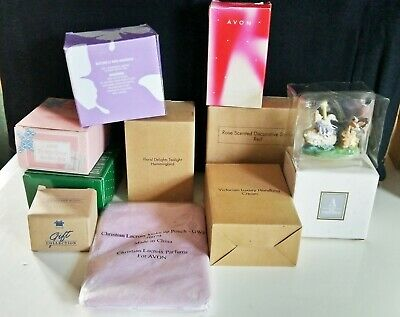 Bulk Lot of 10 Assorted Collectable Avon Gift Collection Items, NIB (9026)