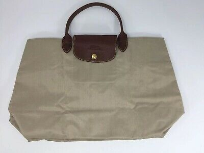 Beige Tan Longchamp Le  Pilage Cabas Open Tote Handbag pre-owned