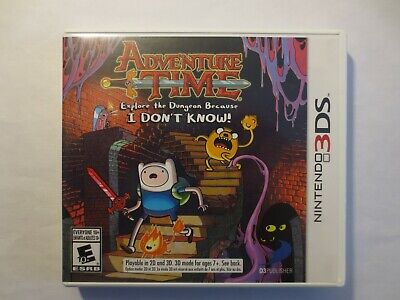 Adventure Time (Nintendo 3DS & 2DS) Game Case & Manual