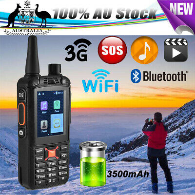 Walkie Talkie SOS Rugged 3G 2-SIM BT WiFi 2-Way Radio Mobile WCDMA/GPS/Network