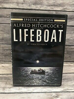 Lifeboat (20th Century Fox DVD, 2005) Alfred Hitchcock, John Steinbeck, 1944