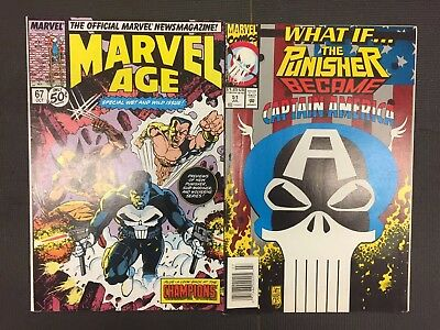 Marvel Age #67 & What If The Punisher Became Captain America #52 Marvel Comics