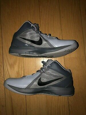 7d3474c641a Nike The Air Overplay IX 9 Grey Black Red Men Basketball Shoes 831572-006 Sz