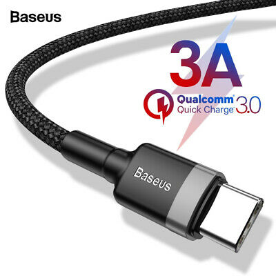 BASEUS USB-C Type-c 3A Fast Charging Cable For Samsung S10 /Pixel 3 /Mate 20 Pro
