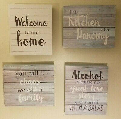 New 12 X10 Wooden Rustic Country Style Quote Wall Decor
