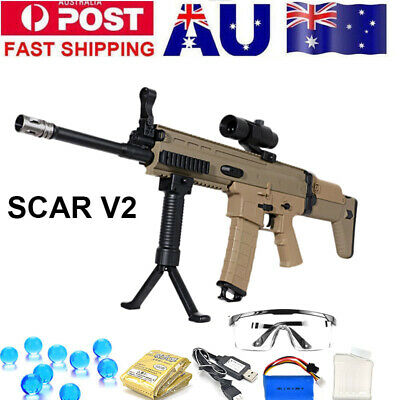 Jinming SCAR V2 Gel Ball Blaster Toy Gun Water Bullets Mag-fed Adult Size AU