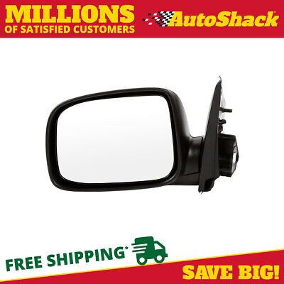Black Folding Power Driver Left Side Mirror for 04-12 Chevy Colorado