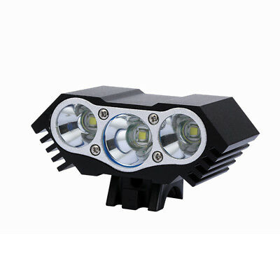 Rechargeable 3000Lm 3xT6 LED Bicycle Light Bike Front Headlight Aluminum Alloy