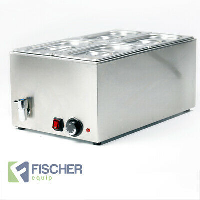 """""""new"""" - Stainless Steel Hot Food Warmer Bain Marie Incl 1/4 Gn Tray - 8710.1.4"""