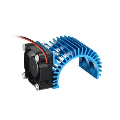 Aluminum Electric Engine Motor Heatsink with Cooling Fan Blue for RC Motor