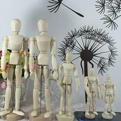 4 Type Wooden Figure Manikin Human Artist Draw Painting Model Mannequin Jointed