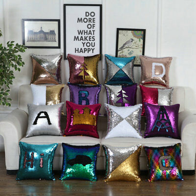 Pillow Case Magical Mermaid Pillowcover Color Changing Office Home Decor