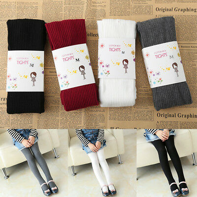 34c5cc712 4 Colors Autumn Winter Baby Girls Striped Tights Cotton Pantyhose Kids  Stockings