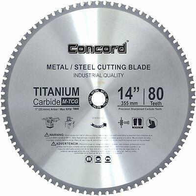 Concord Blades MCB1400T080HP 14 Inch 80 Teeth TCT Ferrous Metal Cutting Blade