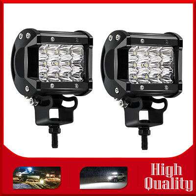 2X 4inch 36W LED Work Light Pods Spot Beam Offroad Driving Lamp For SUV ATV Boat