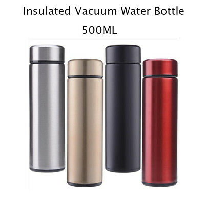 500ml Insulated Water Bottle Stainless Steel Thermos Coffee Tea Drink Bottle AU
