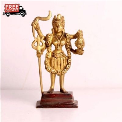 1900's Antique Look Hand Crafted Casted Brass Goddess Kali Idol Figurine 3870