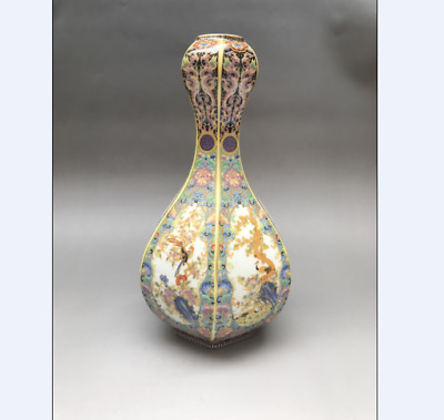 Exquisite Chinese Cloisonne painted Flower vase yongzheng mark