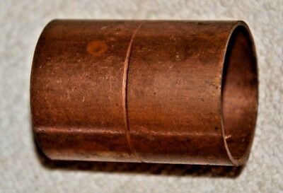 """1 1/4"""" Copper coupling with stop cxc sweat New Old Stock"""