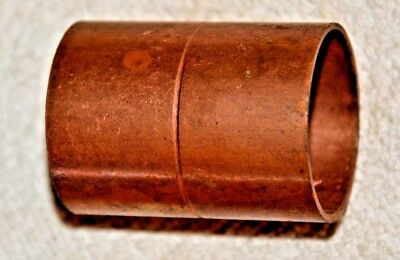 """1 1/2"""" Copper coupling with stop cxc sweat   New Old Stock"""