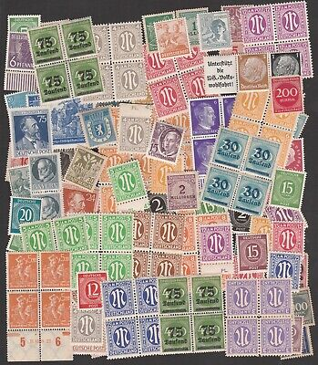 Germany 1920-1960 Quantity Of Mint Stamps Including Unmounted Mint Blocks (100+)