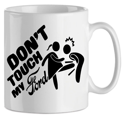 10 fl oz Mug with Condensed Cream Funny Print in Russian DO NOT TOUCH MY MUG