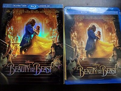 Disney's Beauty And The Beast [Blu-ray + DVD + Digital] NEW!! W/SLIPCOVER