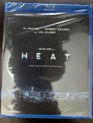 Heat [Director's Definitive Edition] [2 Disc Blu-ray+Digital] BRAND NEW!!
