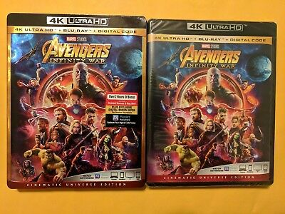 Avengers: Infinity War [4K Ultra HD+BluRay+Digital] BRAND NEW! W/SLIPCOVER!!