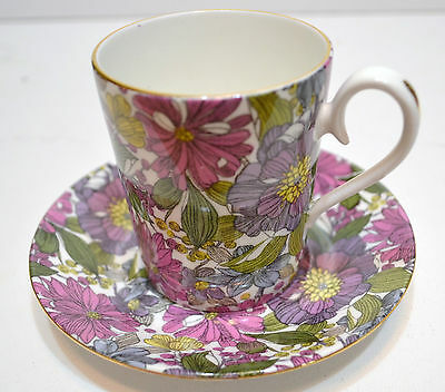 Royal Albert Tea Cup And Saucer  Camelot Pattern - Floral Chintz