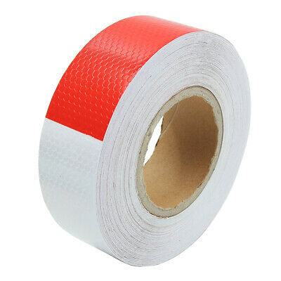 30m Red White Reflective Tape Safety Strips Warning Sticker for Car Truck