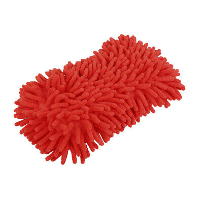 Car Microfiber Wash Sponge Auto Cleaning Cloth Washing Foam Cleaner Tools Red