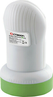 Octagon Green HQ OSLG PLL 0.1dB Single LNB for Radio, Freesat, Satellite, Sky TV