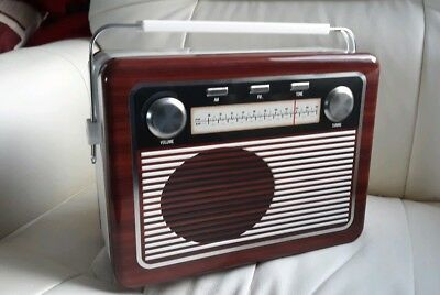 Novelty Embossed Retro Style   Radio Biscuit Tin .New With Cookies