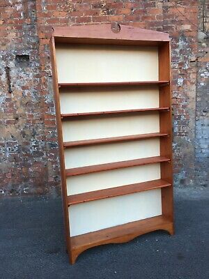 Large Rustic Country Style Pine Bookcase - Open Shelves With Backing Board