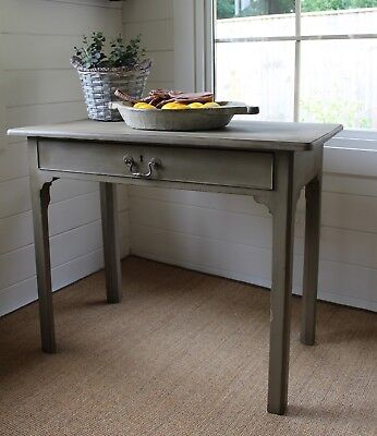 """""""rustic Painted"""" Primitive/provincial Style Antique Console/hall Table/""""nutmeg"""""""