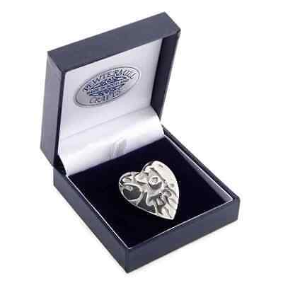 Scotland Heart Pewter Polished Brooch