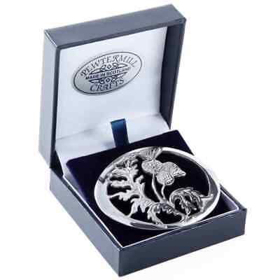 Scotland Thistle - Flower of Scotland Oval Pewter Brooch