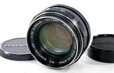 *NEAR MINT+++* Minolta MC ROKKOR-PF 55mm f/1.7 MF Lens MD Mount from Japan #488