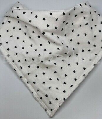 ❤ Toddler Child Dribble Bib Catcher Dry Bandana Girl Boy Unisex White Black Star