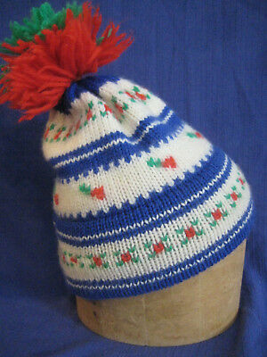 ac3135cc703ea Marceau Sports ski HAT wool winter snowboarding colorful vintage 1970s  1980s USA